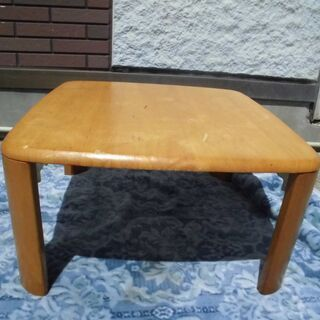 JM11099)川口工器 ローテーブル 折りたたみ可能 天然木 ...