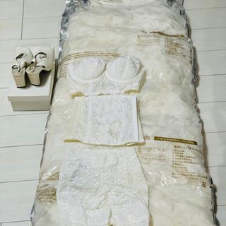 【激安】ウエディングドレス・シューズ・インナー3点セット
