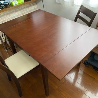 ニトリ 拡張ダイニングテーブル 椅子 セット