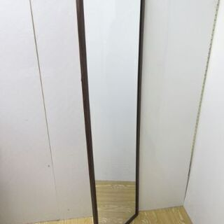 【ネット決済・配送可】jtp-0470 壁掛けミラー ダークブラウン