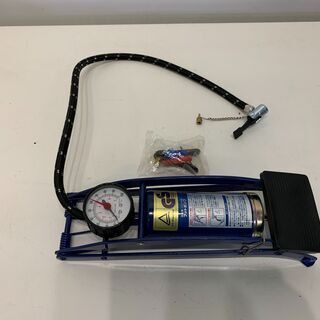 (210721) フットポンプ 空気入れ 圧力計つき 足踏みタイ...