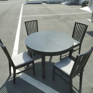 高機能 エクセテンションダイニングテーブル&チェア 5点セ…