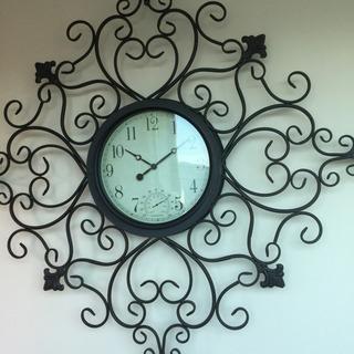 アイアン製 大きな掛け時計