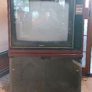 昭和レトロ  リモコン付きブラウン管テレビ