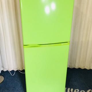 グリーン✨緑✨オシャレ✨冷蔵庫😍清掃済み✨動作確認済み😍