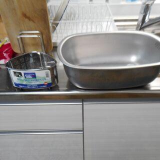 貝印キッチン洗い桶・3角ゴミ取り★抗菌ステンレス製
