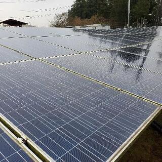 太陽光発電所のパネル洗浄、除草作業