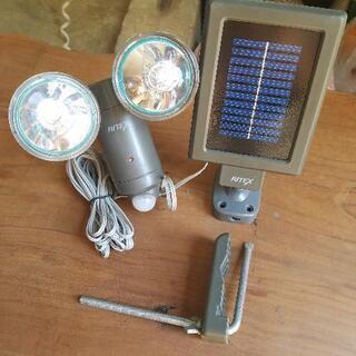 【稼働品】RITEX ソーラーパネル付き LEDライト屋内 屋外...