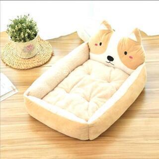 犬用 ベッド ベージュ L ソファー 通年タイプ 犬猫兼用