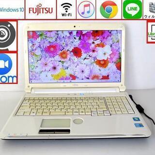初心者OK♥設定済ノートパソコン/Win10/wifi/ホワイト