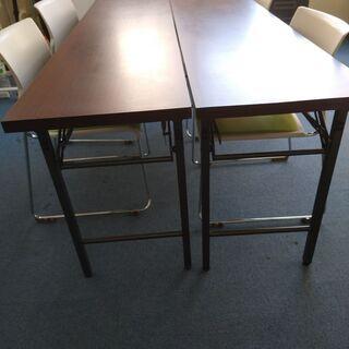 折り畳みテーブル オフィス用 会議デスク 無料でお譲りします。の画像