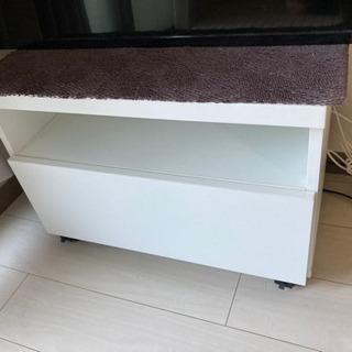 テレビ台(白)無料で譲ります - 家具