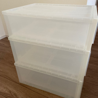 無印良品 ポリプロピレン 収納ケース 衣装ケース 3つセット - 家具