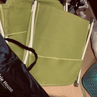 タープテントと、サマーベッド。
