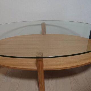 Francfranc フランフラン ガラスローテーブル