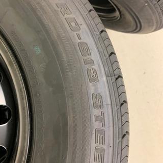 ハイエースワゴン新車外しタイヤ4本セット(スチールホイール組)②