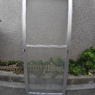 ☆網戸 アルミサッシ 完成品☆程度良 高さ174cm 幅76cm☆