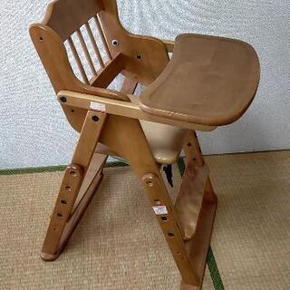 【ネット決済】【取引中】木製ベビーチェア★澤田木工所★折り畳み式