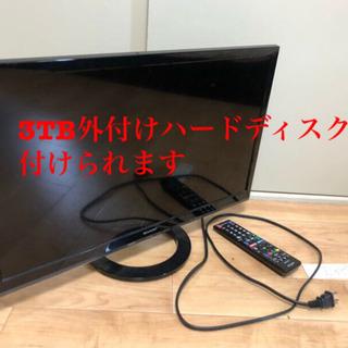 SHARP 24型テレビ と3TB HDD