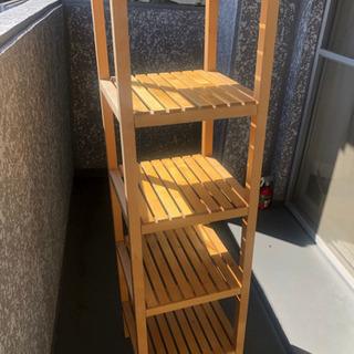 【ネット決済】【引き取り確定】IKEA 木製ラック