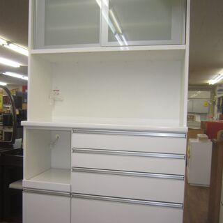 R068 高級 松田家具 キッチンボード、食器棚、幅117cm ...
