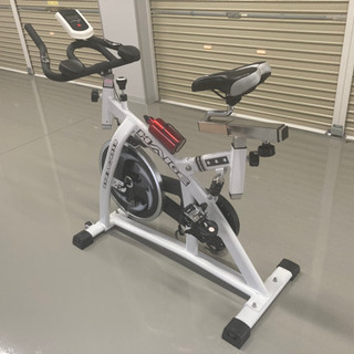 美品 スピンバイク HG-YX-5001 ホワイト エアロ…