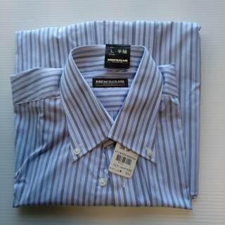 【新品】Yシャツ L-半袖 首周り41cm MEN'S CLUB