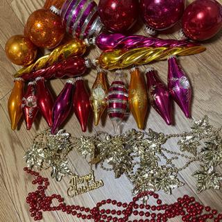中古クリスマスツリー飾り物