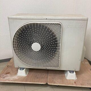 【良品】東芝 ルームエアコン リモコン付 RAS-566SDR 18畳用 200V 2015年製 - 台東区