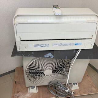 【良品】東芝 ルームエアコン リモコン付 RAS-566SDR 18畳用 200V 2015年製の画像