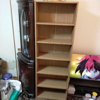 【ネット決済】6段棚、薄茶色、用途、色々使えます!