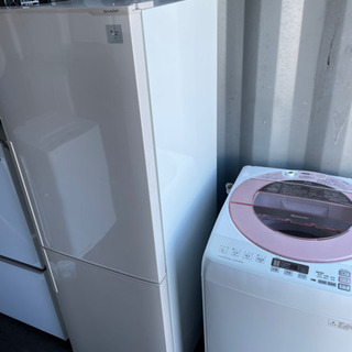 No.967 SHARP 2〜3人用 冷蔵庫❄️洗濯機セッ…