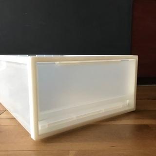 無印良品 ポリプロピレン収納ケース 引出し式 小(約幅34×奥行44.5cm×18cm) - 品川区