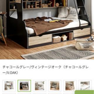 シングル×セミダブル 2段ベッド