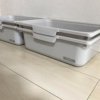 【ネット決済】収納BOX蓋なし4つセット 幅38×奥行27.6×...