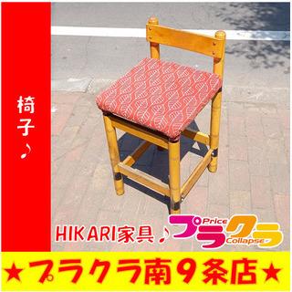 G4850 椅子 HIKARI家具 座部の布はお客様で張り…