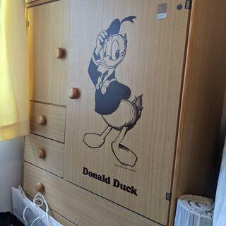 ディズニー家具 ドナルドダックの収納家具売ります。