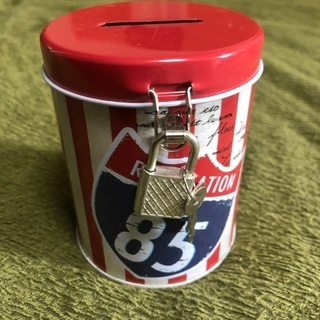 缶型 貯金箱 缶