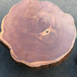 丸太輪切りテーブル