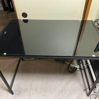 【お得な2台セット】PCデスク/棚付き1台、棚無し1台/1…