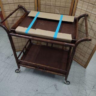 木製 台車 キッチンワゴン ラック 飾り台 収納 車輪 キャスタ...
