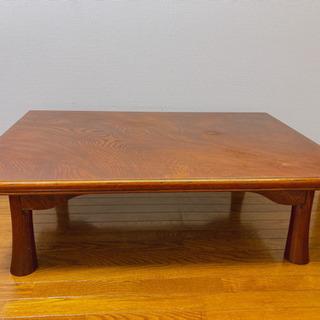 大きめの木製折り畳み式ローテーブル