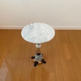 《アンティーク調》大理石 サイドテーブル 花台 飾り台