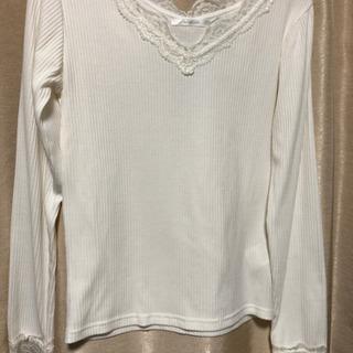 M細身Tシャツ 白色