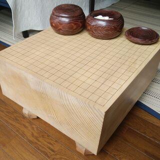 碁盤(足付、19路盤、天柾) 碁石(蛤/那智黒)