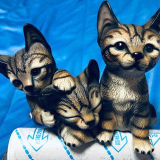【美品】Demain ドマン イタリア製 座った子猫達の置物