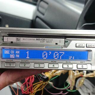 1DIN MD/CDデッキ SANYO CDF-MS11J 取説...