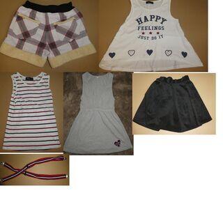 子ども服 多数 スカートサスペンダー短パンシャツなどレディース用...