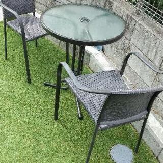 【ネット決済】ガーデンテーブル 椅子2脚