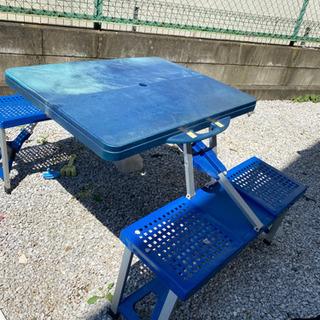 折り畳みテーブル パラソル付き